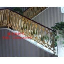 Wrought iron handrail of Jinli pawnshop